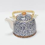 """Чайник керамический с металлическим ситом """"Голубой узор"""" 600 мл"""