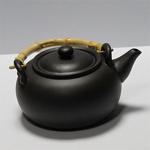Чайник глиняный с бамбуковыми ручками «Черное золото»
