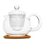 """Стеклянный заварочный чайник """"Пион"""" с заварочной колбой , 800 мл"""