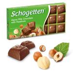 Шоколад молочный Schogetten Alpine Milk Chocolate with Hazelnuts