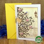 Дизайнерская открытка с конвертом Райские птицы 195*140 мм