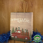 Подарочный пакет новогодний Машина (23*18*10 см)