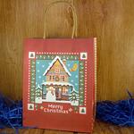 Подарочный пакет новогодний Теремок (23*18*10 см)