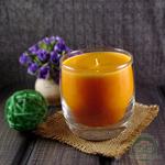 """Ароматическая свеча Shein Candles """"Персик"""" в стеклянном стакане"""