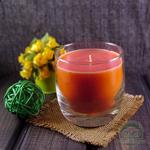 """Ароматическая свеча Shein Candles """"Малина"""" в стеклянном стакане"""