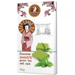 Шоколад SHOUD'E зеленый чай с мятой 90 г