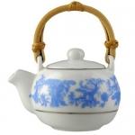 Фарфоровый чайник с тростн. ручкой 70мл арт 10-053