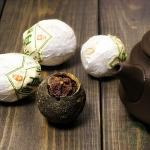 Белый чай пуер в мандарине 10 грамм