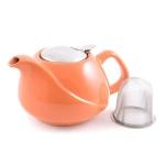 Заварочный чайник Fissman керамика 750 мл оранжевый цвет TP-9205.750