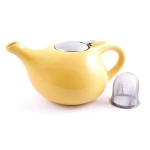 Желтый заварочный чайник Fissman 1,3л TP-9203.1300