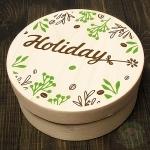 Деревянная банка Holiday