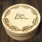Деревянная банка Best Wishes