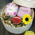Подарочный набор в деревянной коробке Тетра Дружба