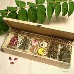 """Подарочный набор в деревянной шкатулке """"Бутоны роз"""""""