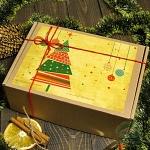 """Картонная подарочная коробка """"Новогодняя"""""""