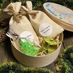 """Новогодний Подарочный набор в деревянной коробке """"С Новым Годом"""" Sweet Smile"""