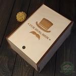 Деревянная коробка для чая и кофе Men's style (22 х 16 х 10 см)