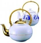 Фарфоровый чайник с тростн ручкой 800мл арт 10-044