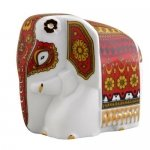 Фарфоровый слон Батик красный арт. 10-062 50г