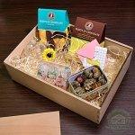"""Подарочный набор в деревянном ящике """"Мишки Тедди"""""""