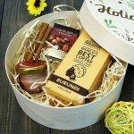 Подарочный набор в деревянной коробке Кофе в шоколаде