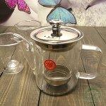 Чайник заварочный стекляный 350 мл,2 пиалы