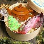 """Новогодний Подарочный набор в деревянной коробке """"С Новым Годом"""" Императорский улун"""