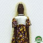 """Кофейная кукла """"Беловолосая негритянка"""""""