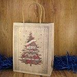 Подарочный пакет новогодний Merry Christmas (23*18*10 см)