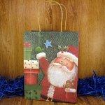 Подарочный пакет новогодний Дед Мороз (23*18*10 см)