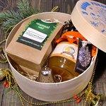 """Новогодний Подарочный набор в деревянной коробке """"С Новым Годом"""" Индия"""
