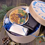 """Новогодний Подарочный набор в деревянной коробке """"С Новым Годом"""" Леди"""
