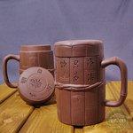Кружка глиняная с крышкой «Калиграфия» 400 мл