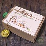 """Картонная подарочная коробка """"Чайная линия"""""""